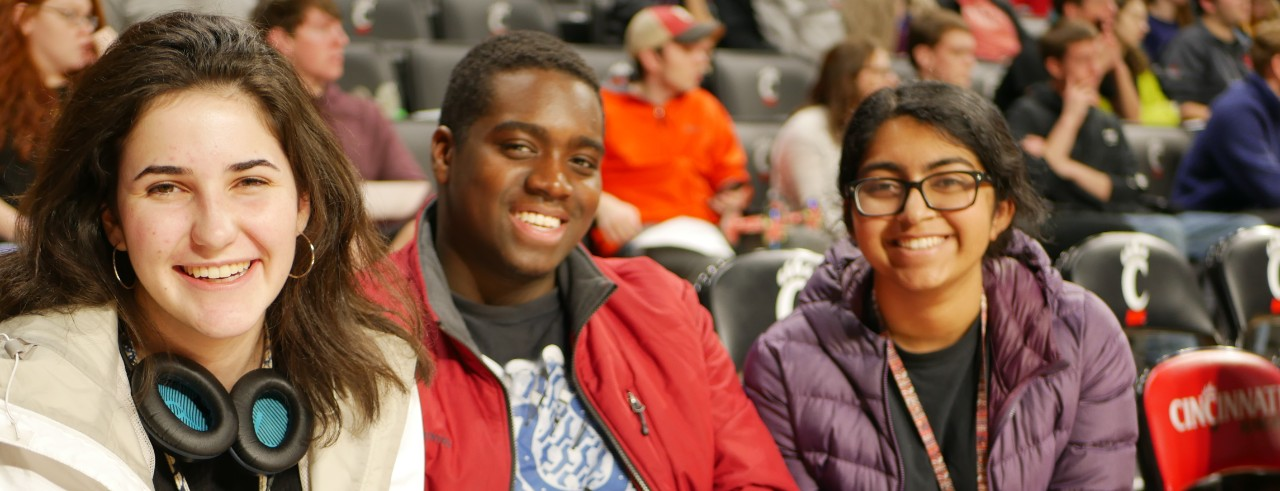 Students gathered at welcome day