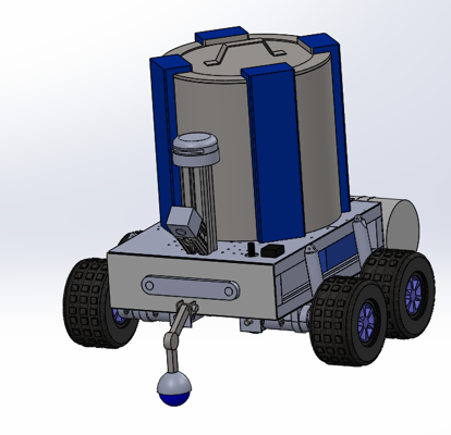 Prototype drawing of tick collection robot