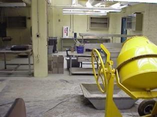construction materials lab interior