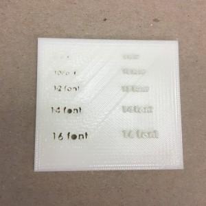 FDM Font Accuracy