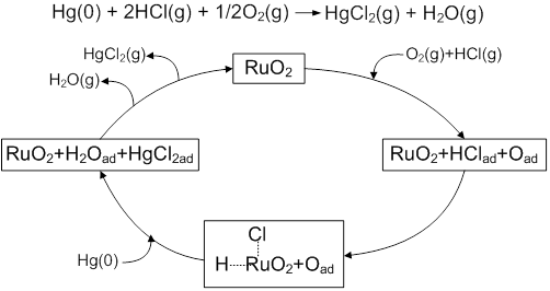 Hg(0) oxidation over RuO2 catalyst