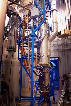 the Gas Turbine Erosion lab machinery