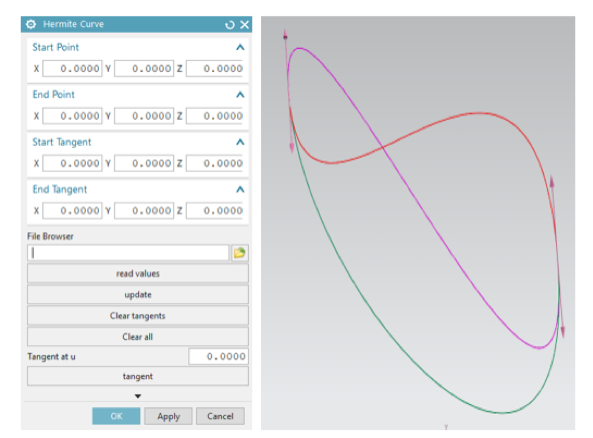 Hermite curve GUI and result