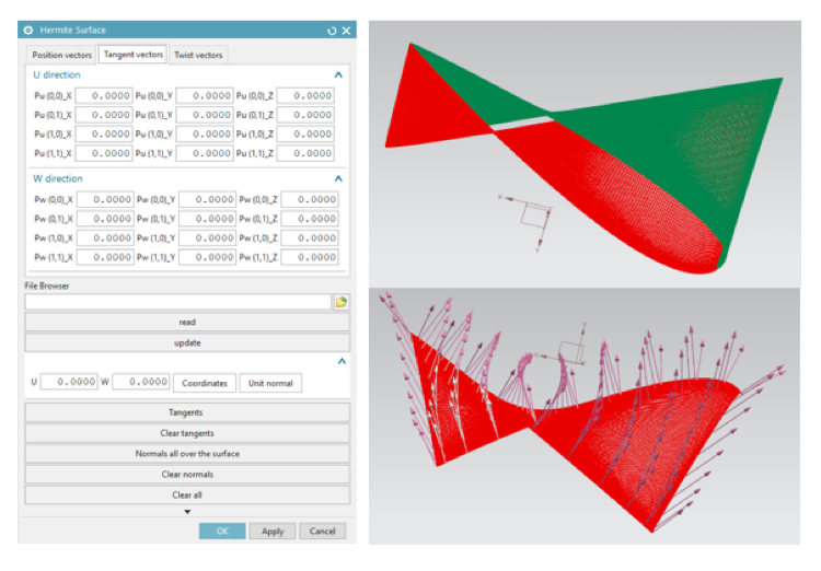 Hermite surface GUI and result