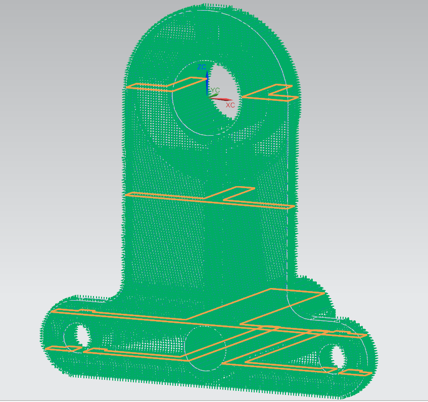 Contour points (green) traced by laser in each layer