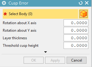 The Cusp Error GUI is shown.