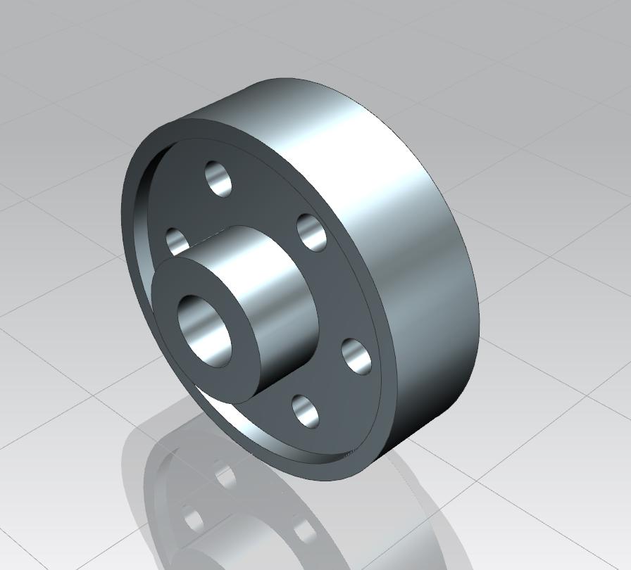 Computer rendered image of a simple flywheel