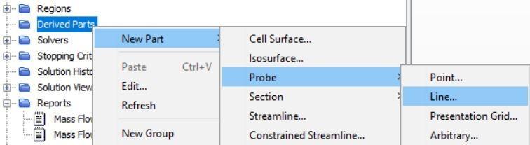 Create a line probe