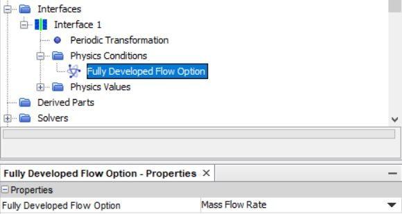 Fully developed flow option