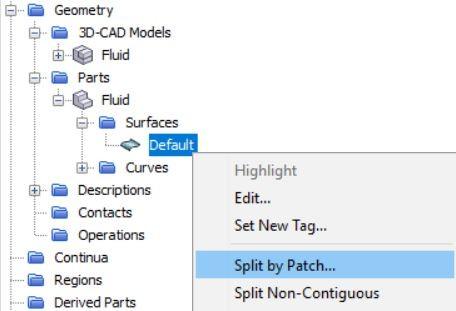 Split the default surface