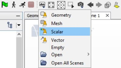 Create a scalar scene