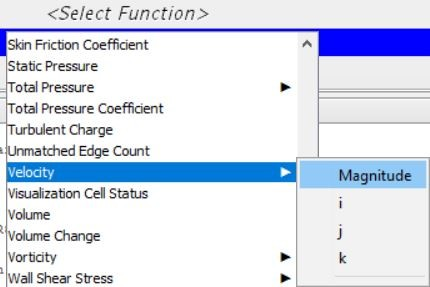 Select the function of scalar scene