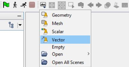 Velocity vector scene