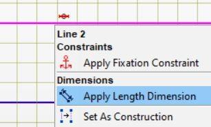 Apply length dimension
