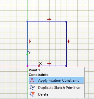 Figure 5 Draw a rectangle in sketch
