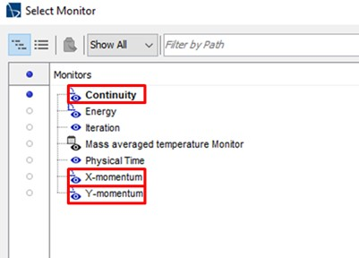 Figure 43 Create new converging criteria from monitor