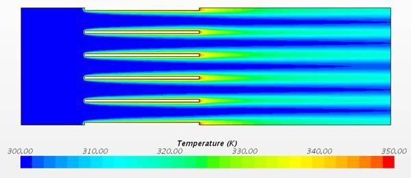 Figure 46 Temperature contour