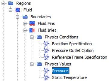Figure 32 Inlet boundary settings