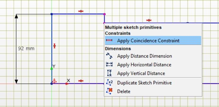 Figure 6 The complete sketch for CAD