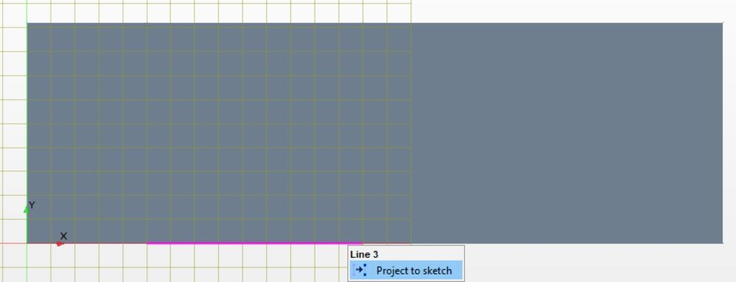 Figure 9 Line projection and construction line