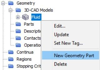 Figure 16 Creating a new geometry part