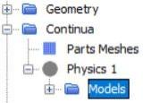 Figure 29 Physics model selection